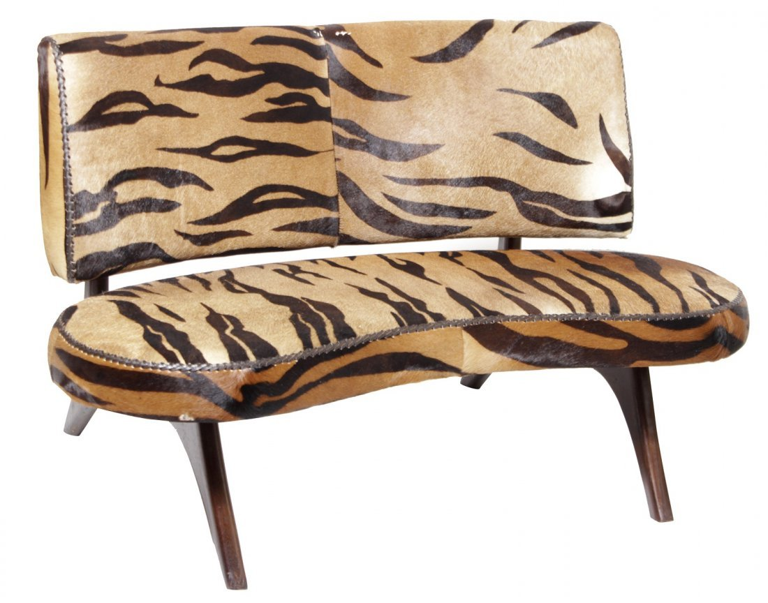 Biomorphic Animal Print Sofa