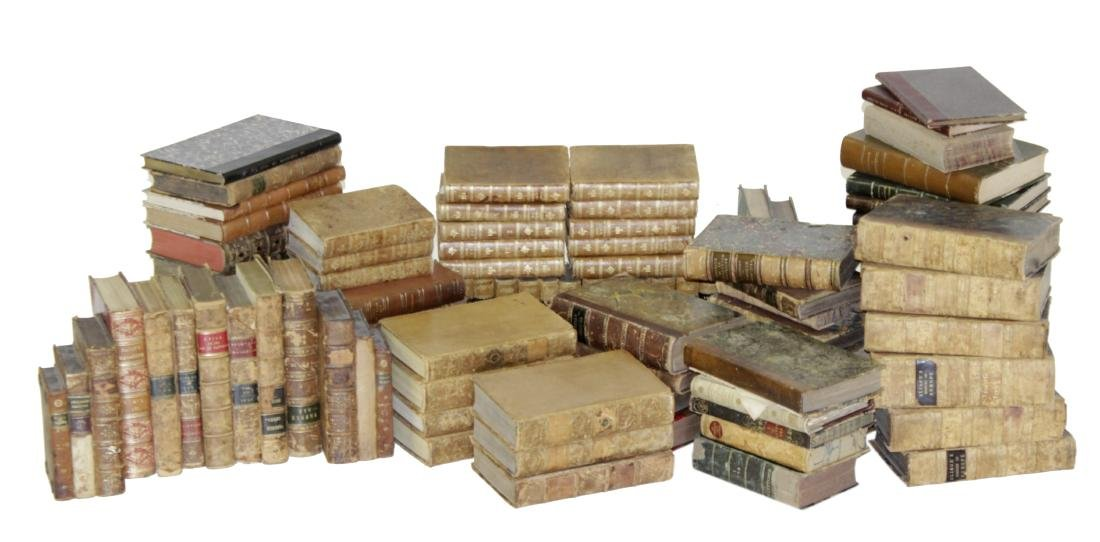 Assorted Antique Leather Bound Books