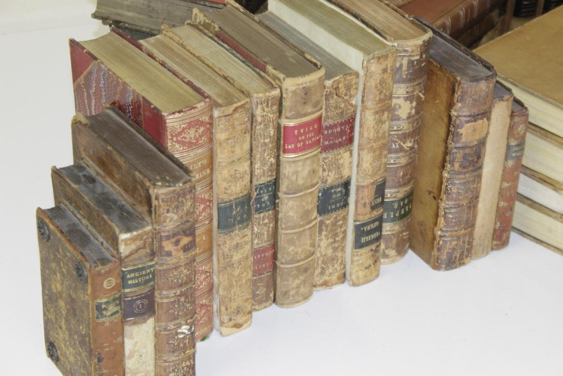 Assorted Antique Leather Bound Books - 2