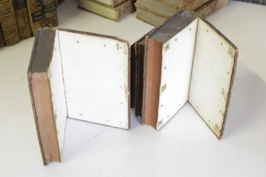 Assorted Antique Leather Bound Books - 7