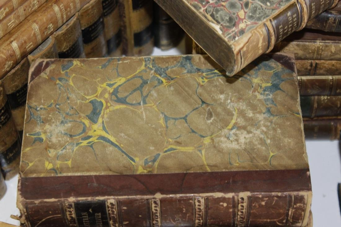 Assorted Antique Leather Bound Books - 9