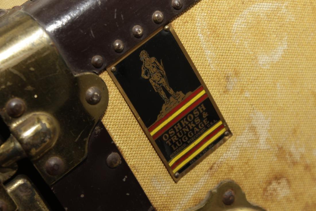 Vintage Oshkosh Steamer Trunk - 4