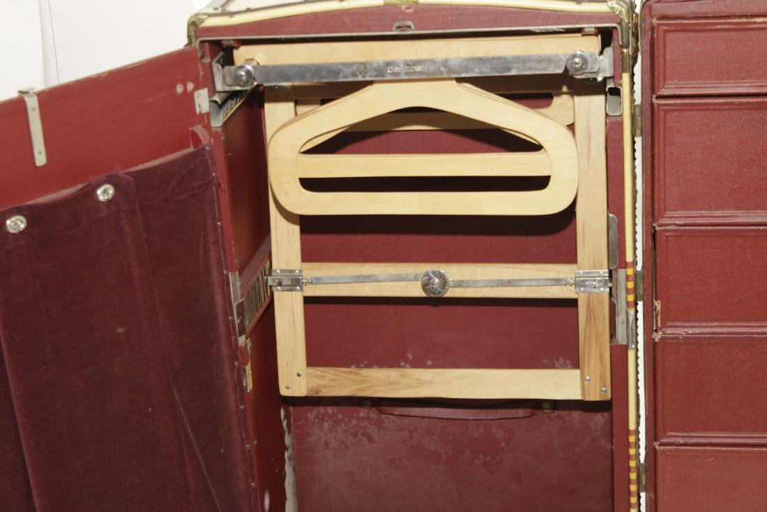 Vintage Oshkosh Steamer Trunk - 6