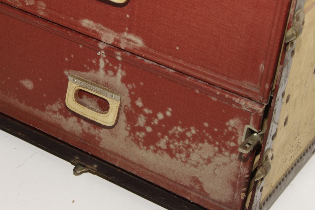Vintage Oshkosh Steamer Trunk - 9