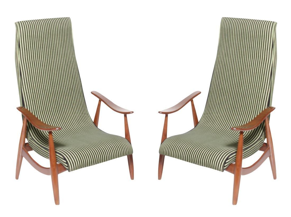 Pair of Italian Modernist Arm Chairs