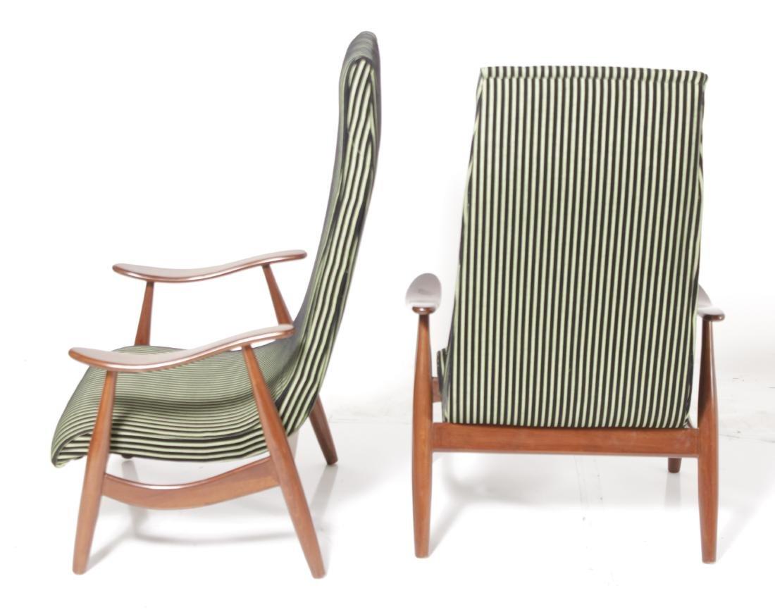 Pair of Italian Modernist Arm Chairs - 7