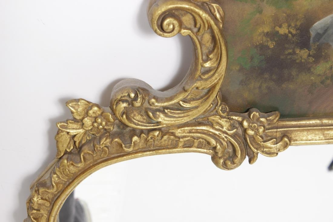 French Mirror With Painted Cartouche - 4