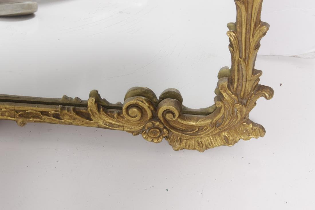 French Mirror With Painted Cartouche - 5