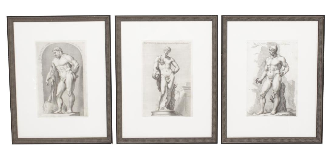 Three 18th C Classical Engravings