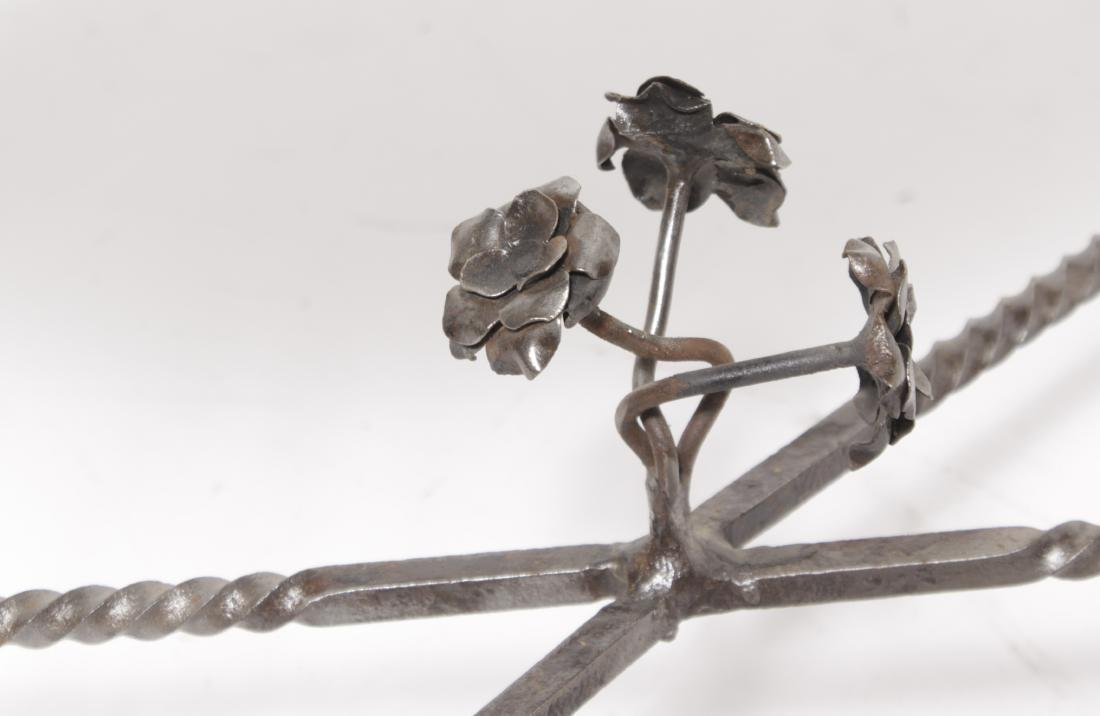 Deco Steel Table w/ Black Mirror Top - 2
