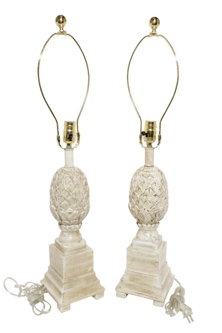 Pair Pineapple Lamps