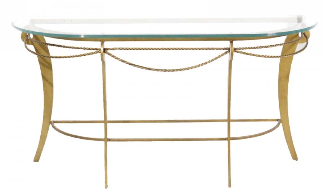 Gilt Iron Console Table