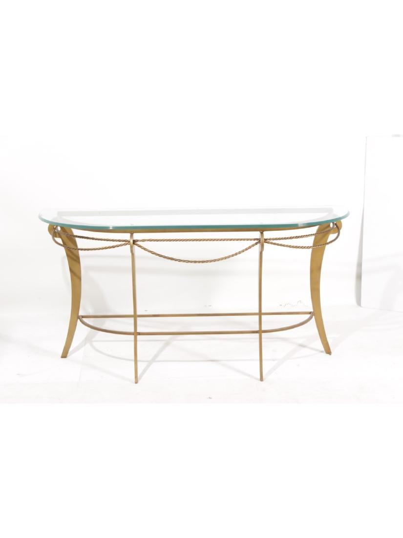 Gilt Iron Console Table - 6