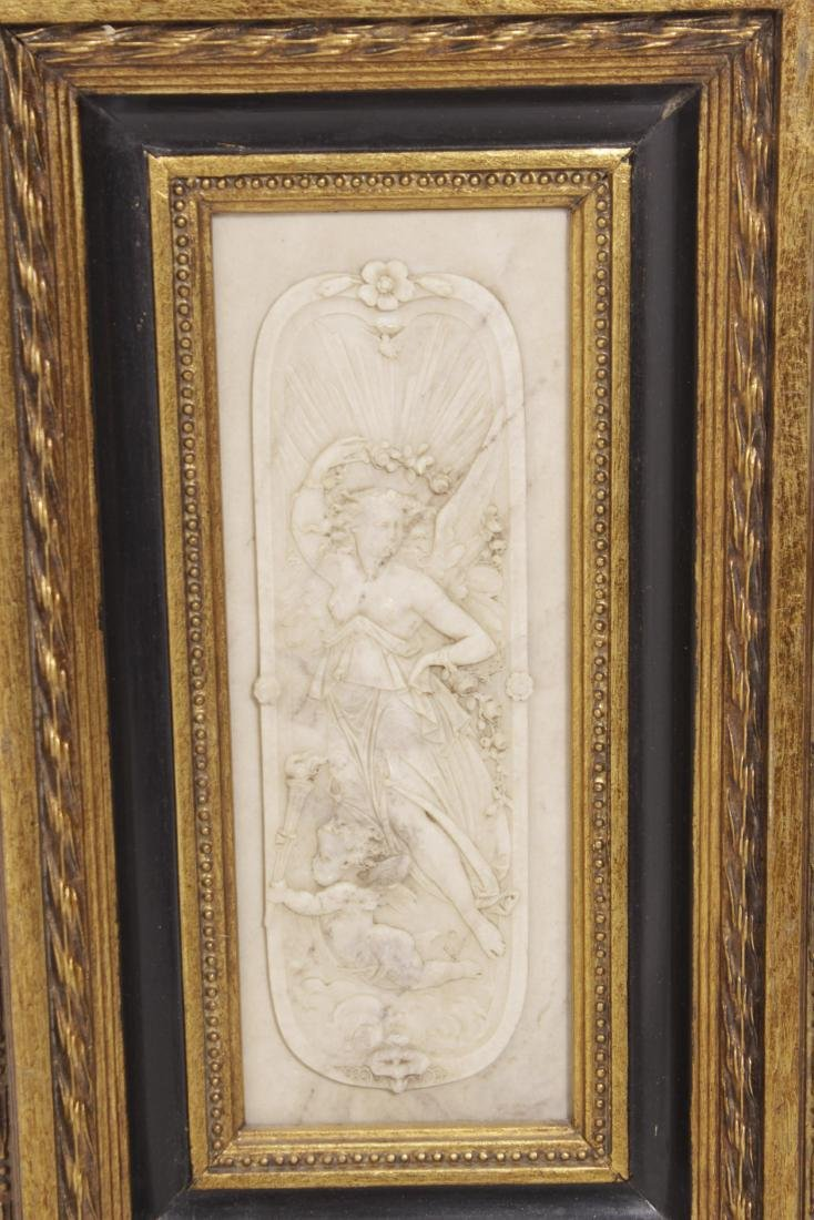 Pair of Composition Neoclassical Plaques - 2