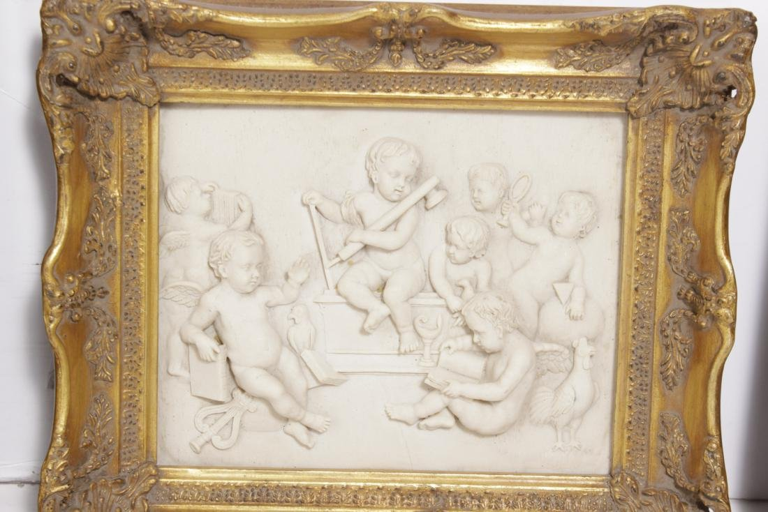 Pair of Composition Neoclassical Plaques - 3