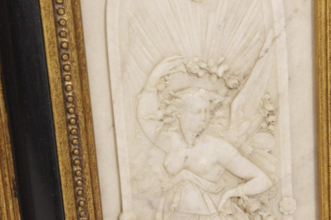 Pair of Composition Neoclassical Plaques - 5