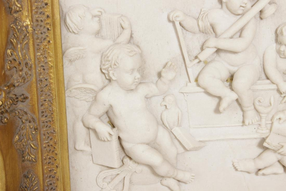 Pair of Composition Neoclassical Plaques - 6