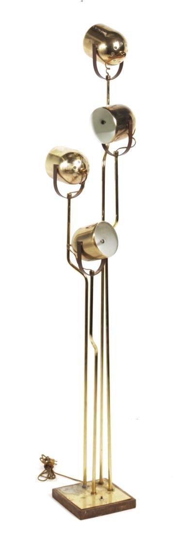 Multi-Arm Brass Floor Lamp