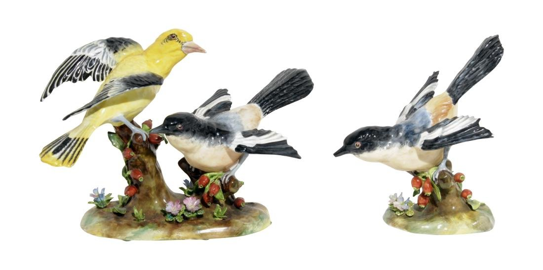 Two Staffordshire Bird Figures