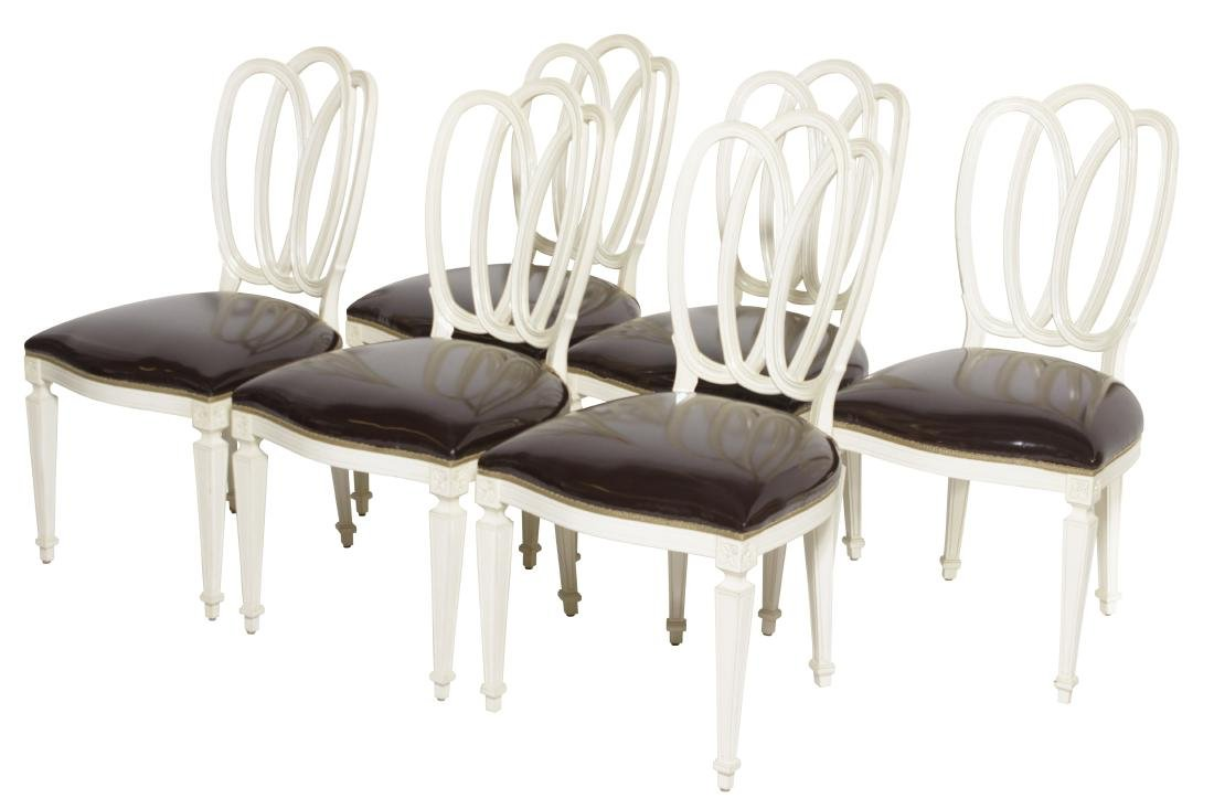 Set of Six Ribbon Back Dining Chairs