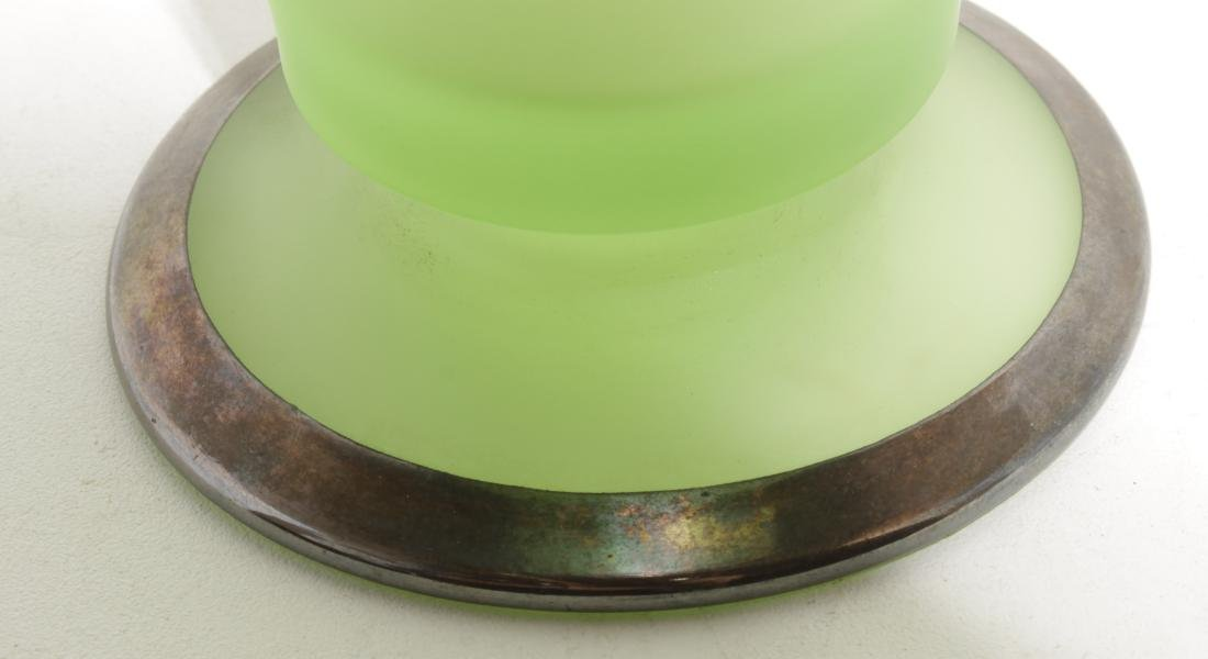 Green Art Glass Vase - 5