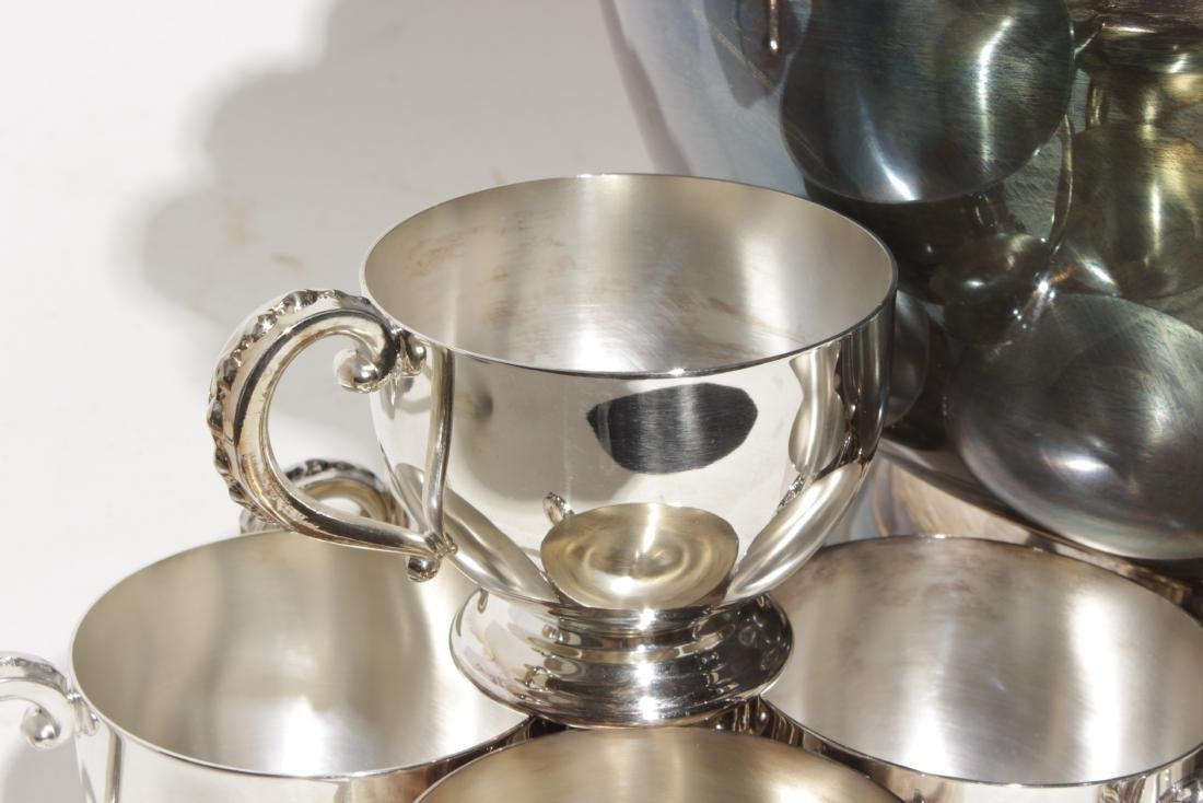 Silver Plate Punch Bowl Set - 3