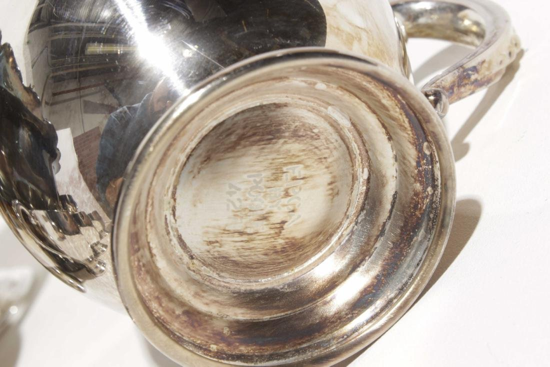 Silver Plate Punch Bowl Set - 5