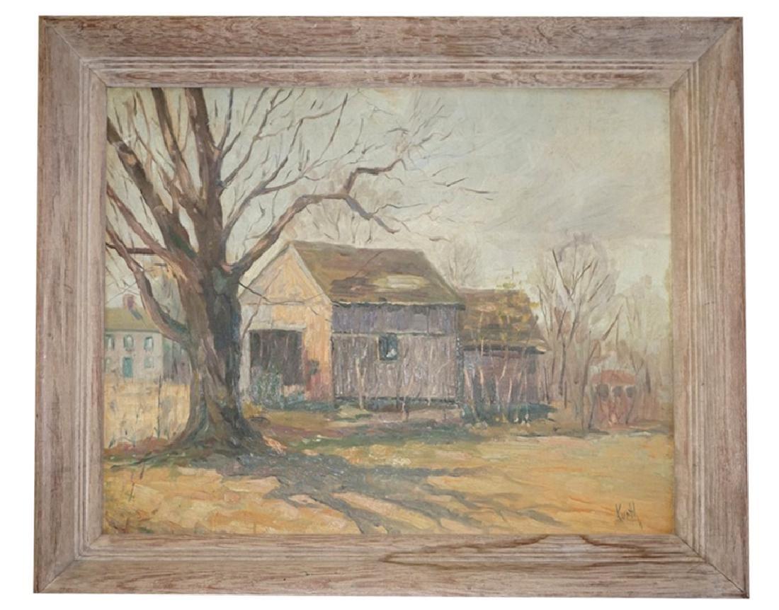 Otto Kurth (1883-1965) Oil on Board Landscape