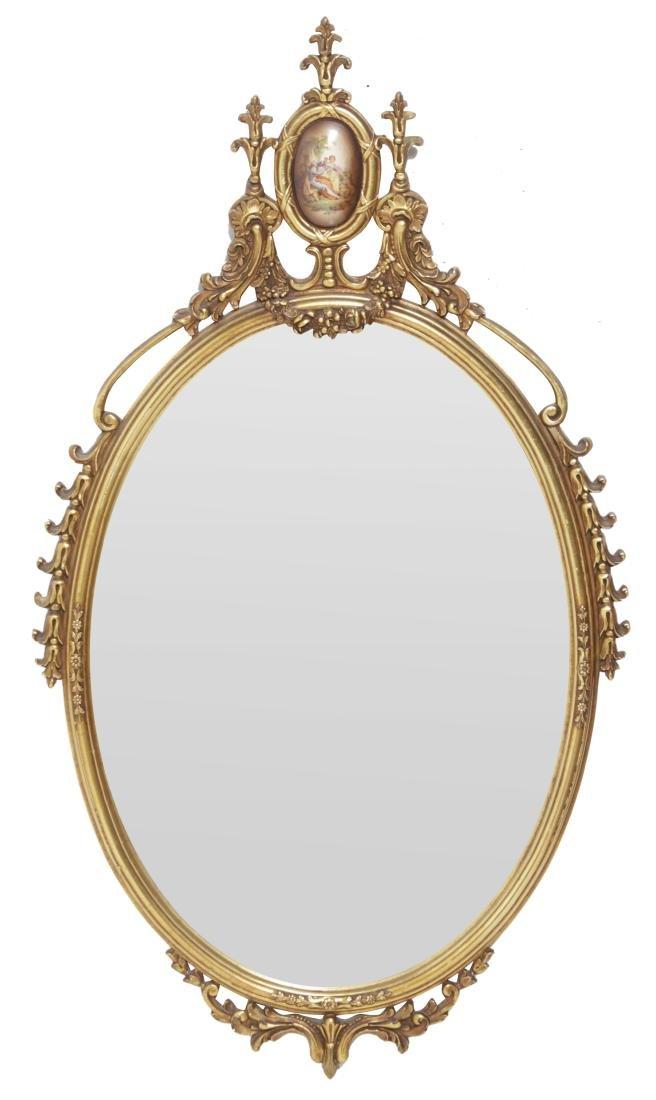 Oval Gilt Mirror