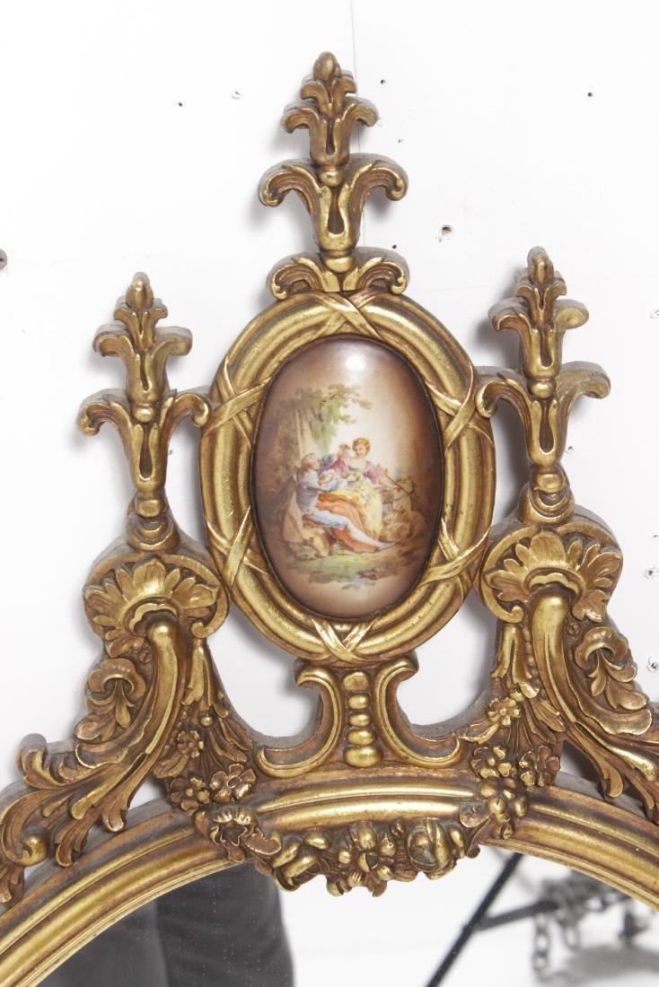Oval Gilt Mirror - 2