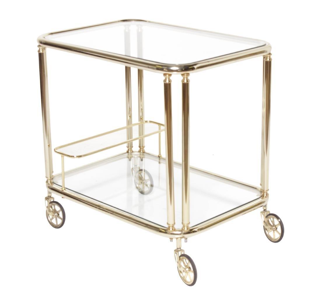 Mid C Brass Tea Cart