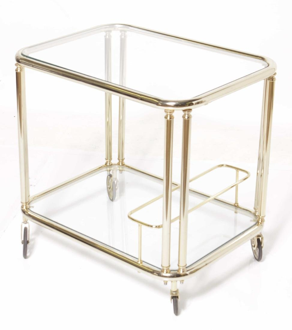 Mid C Brass Tea Cart - 5