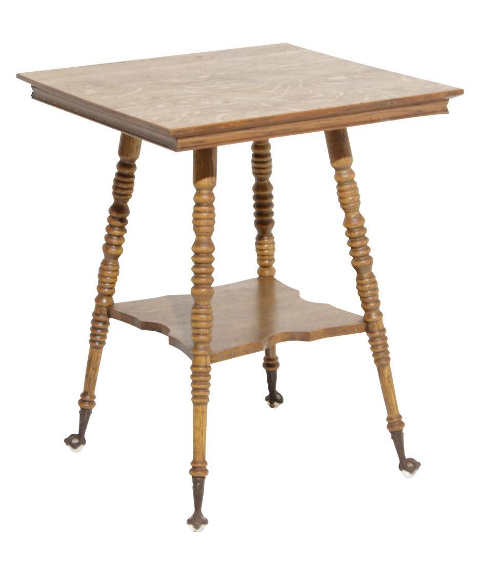 Victorian Oak Square Top Table