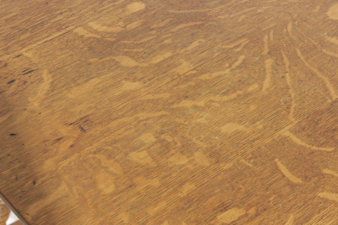 Victorian Oak Square Top Table - 2