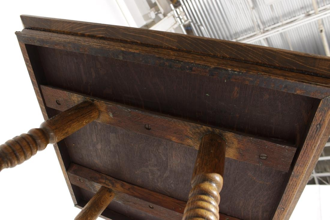 Victorian Oak Square Top Table - 6