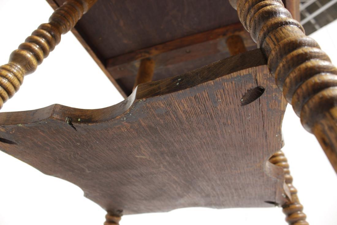 Victorian Oak Square Top Table - 7