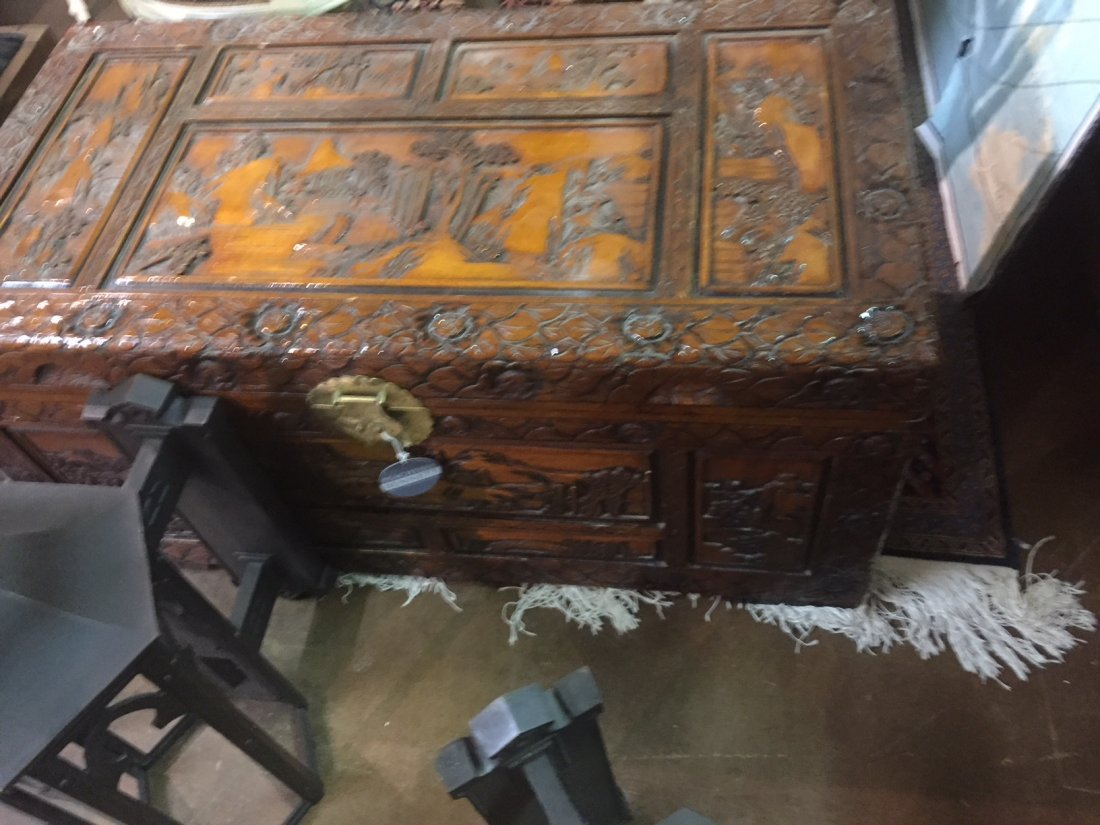 Carved Chinese Trunk