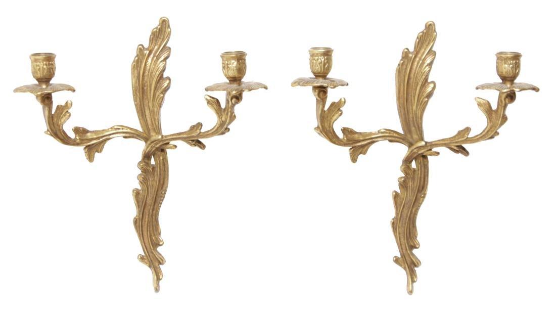Pair Louis XV Style Sconces