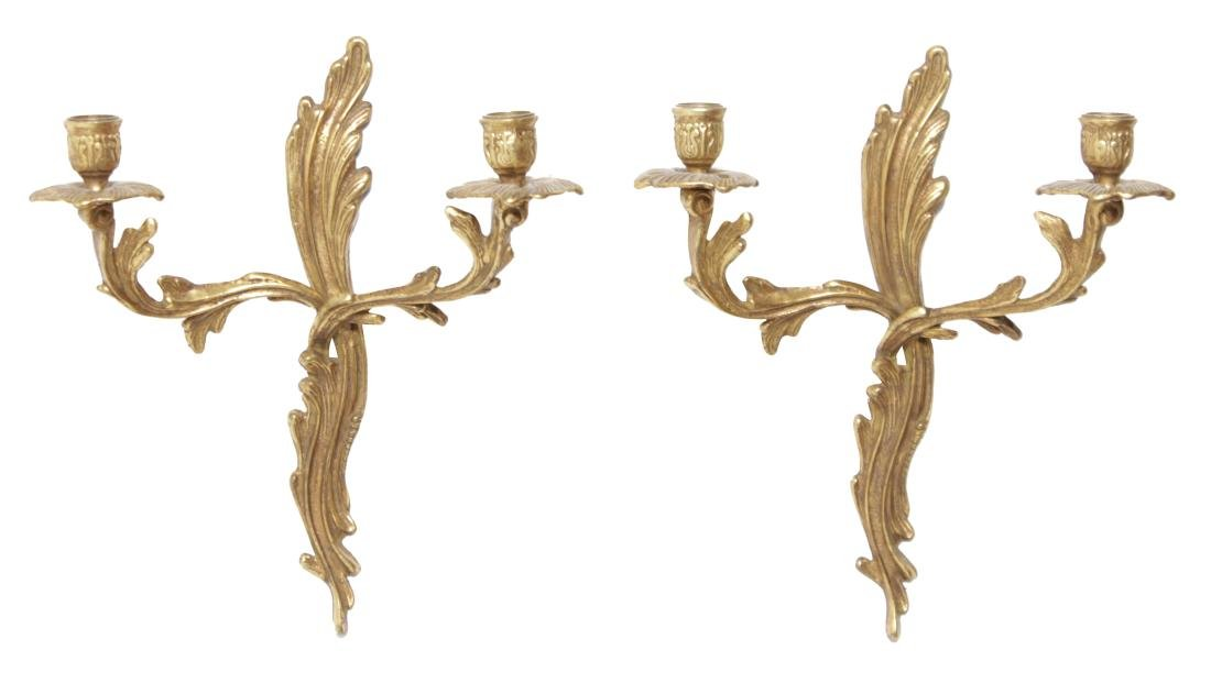 Pair Louis XV Style Sconces