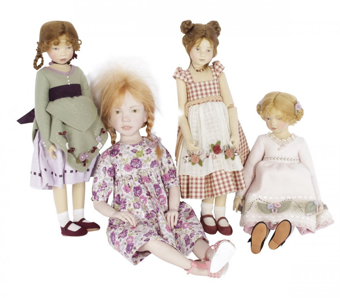 Four Miscellaneous Maggie Tocan Dolls