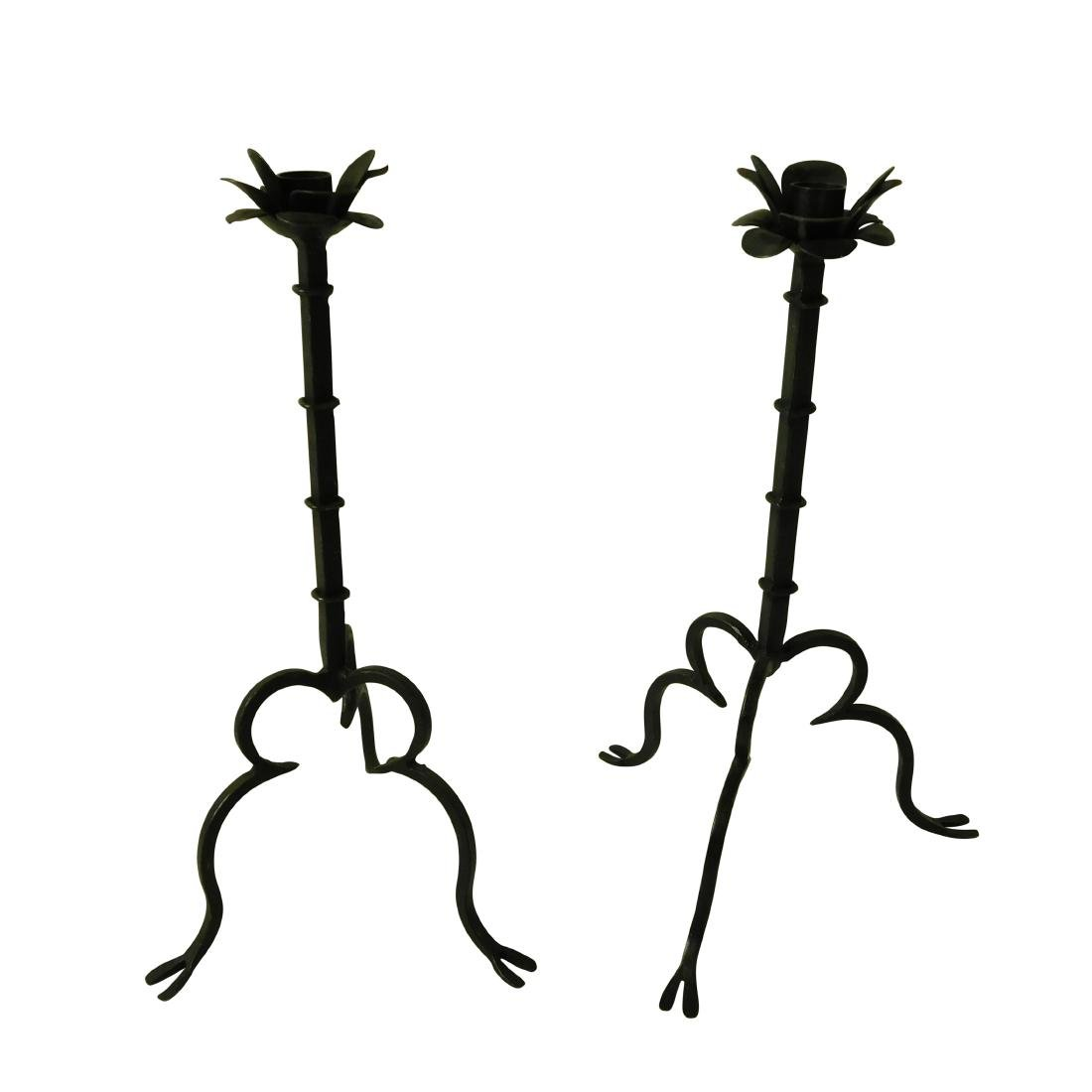 Wrought Iron Candlesticks