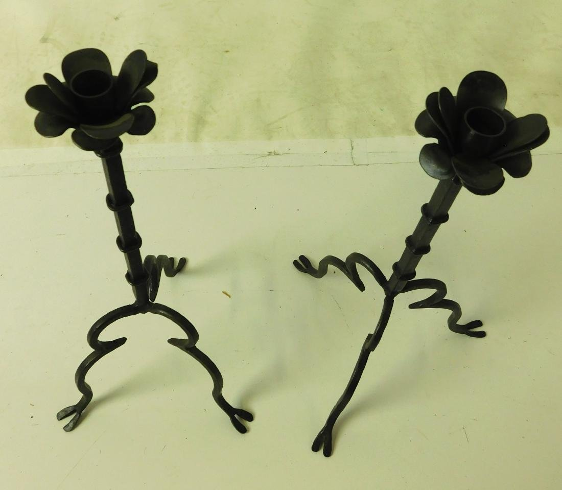 Wrought Iron Candlesticks - 2