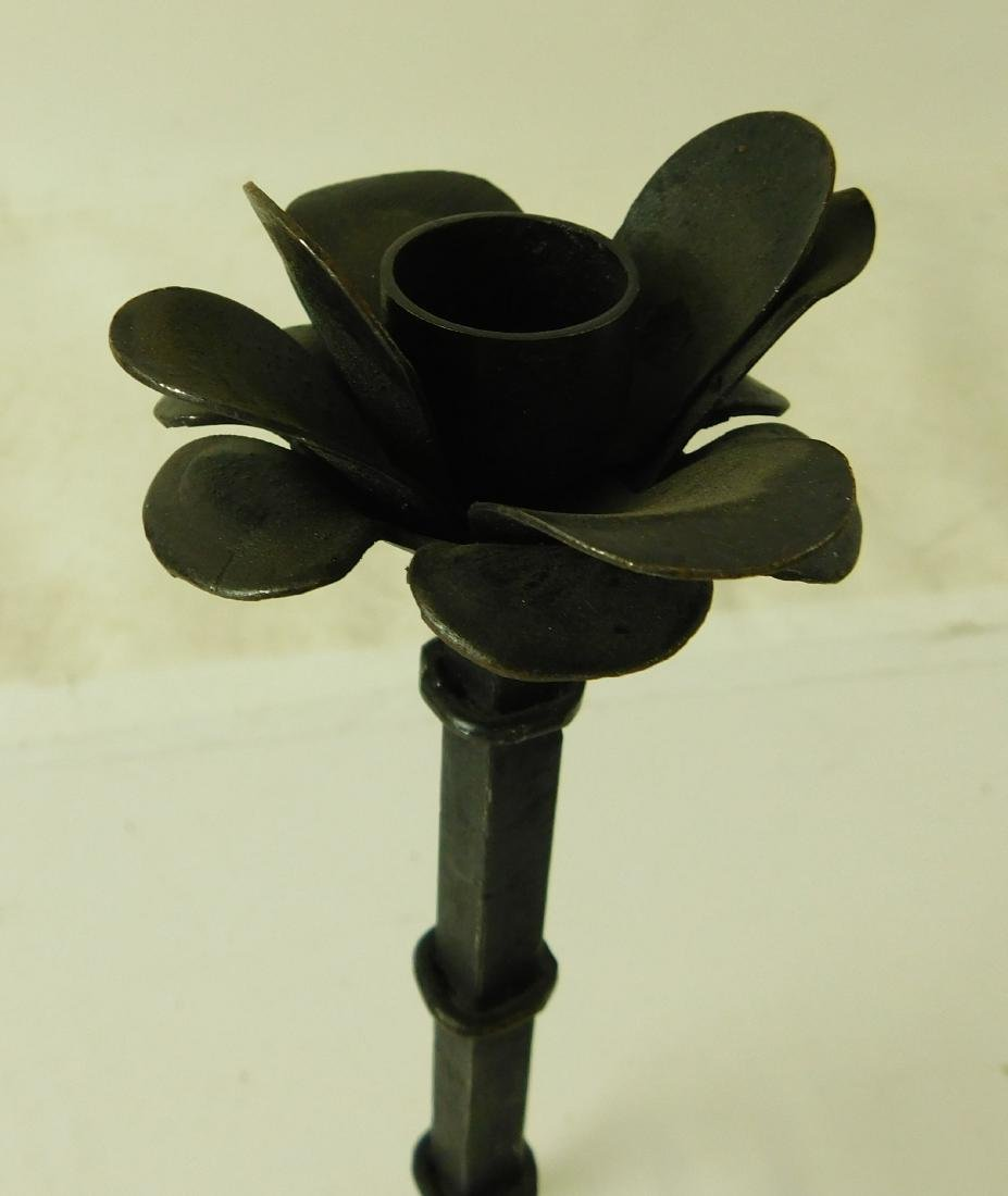 Wrought Iron Candlesticks - 4