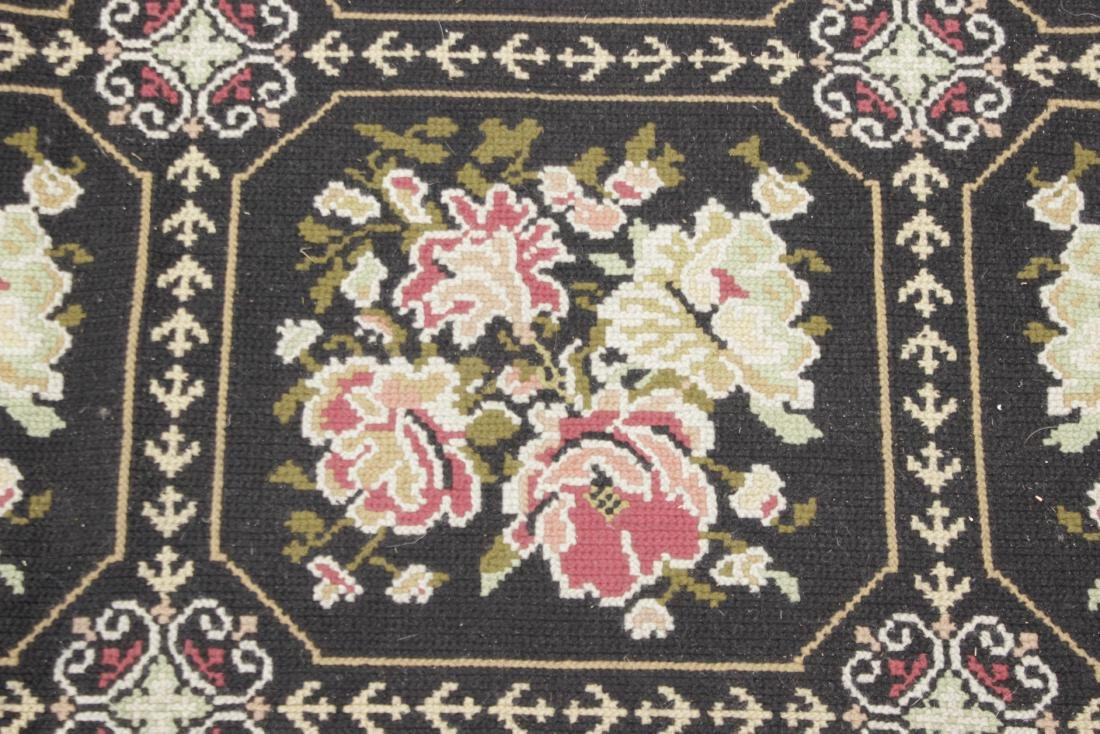 Large Victorian Style Hooked Rug - 2