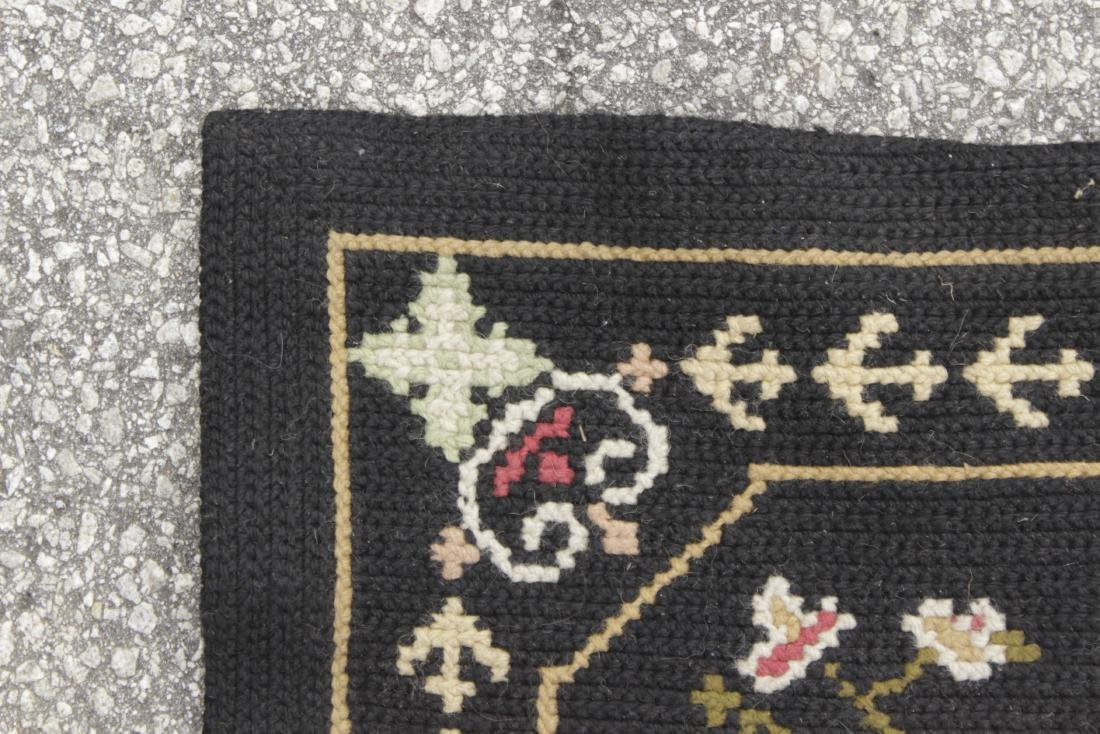 Large Victorian Style Hooked Rug - 3