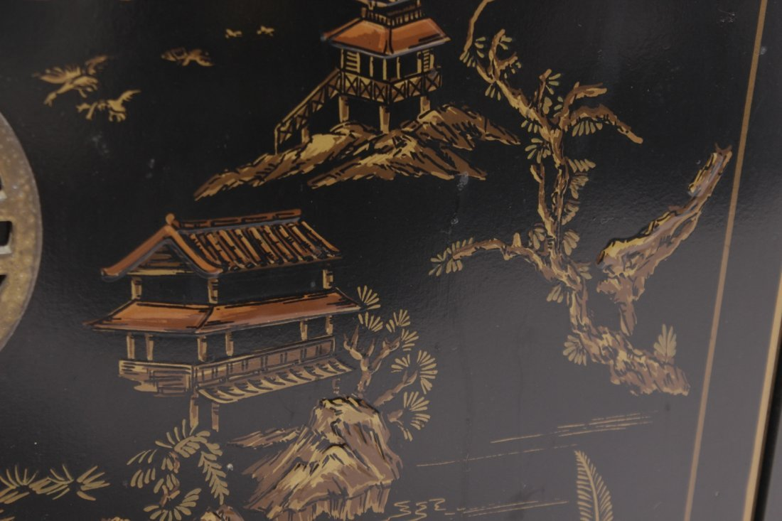 Chinese Black Lacquer Cabinet - 5