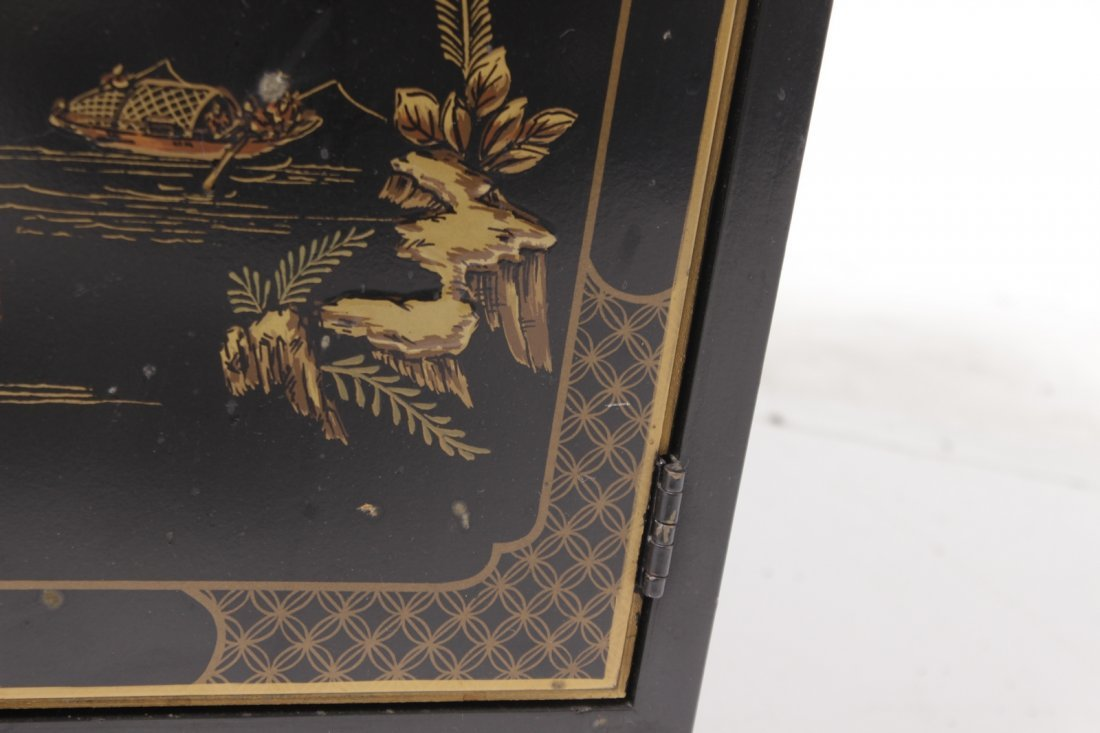 Chinese Black Lacquer Cabinet - 8