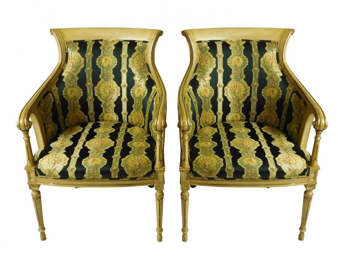 Pair Decorator Armchairs
