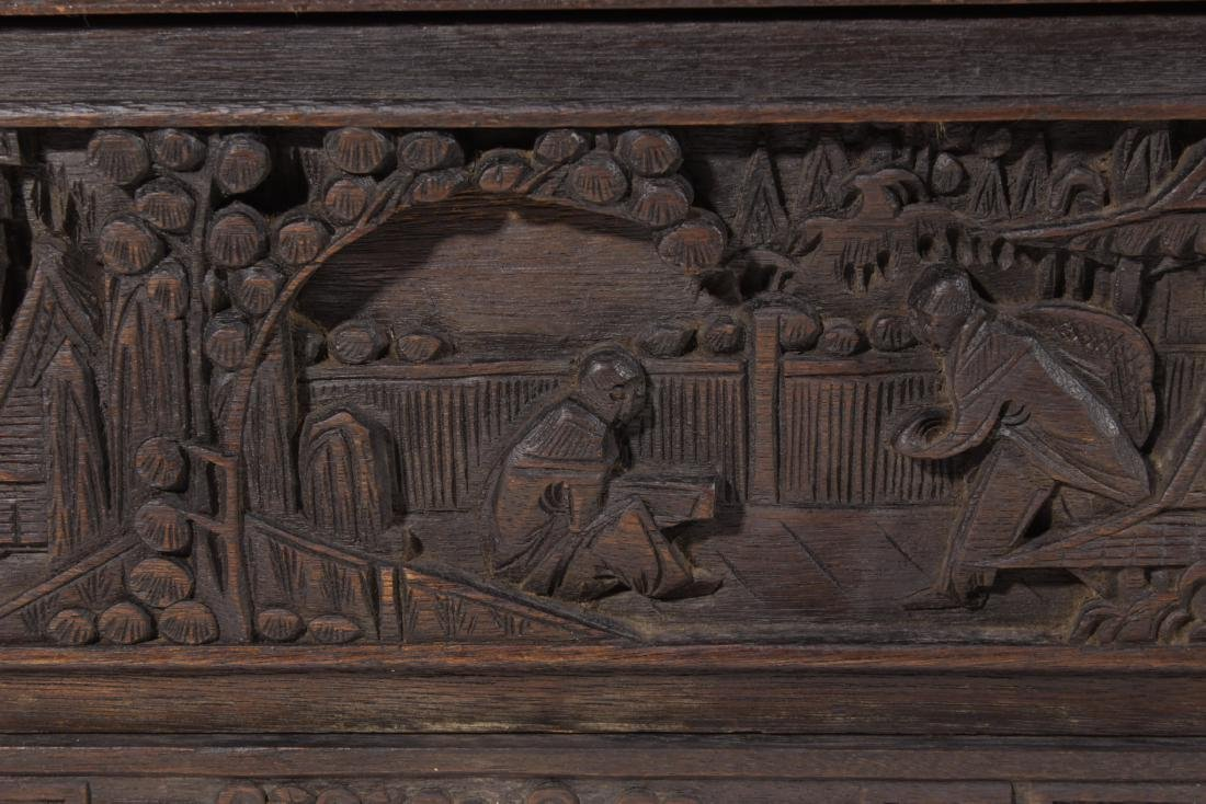 Chinese Carved Camphor Chest - 3