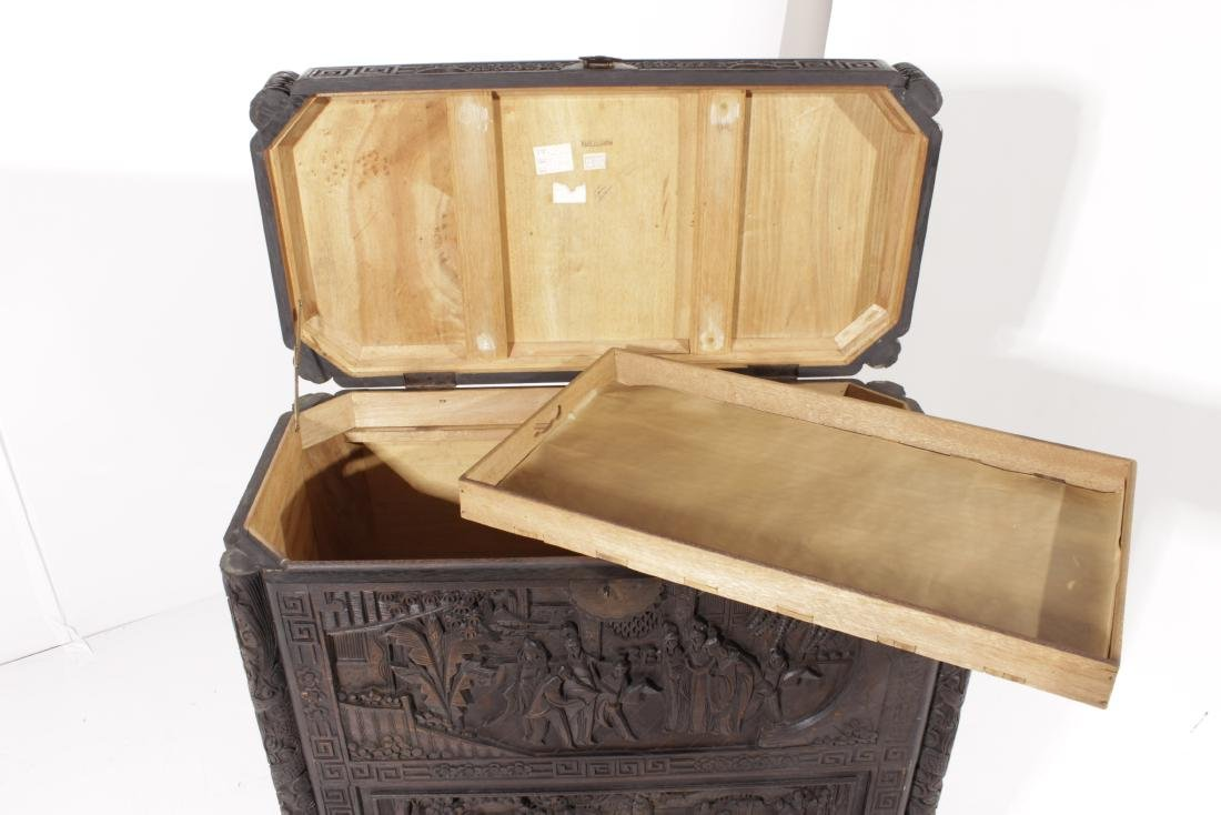 Chinese Carved Camphor Chest - 4